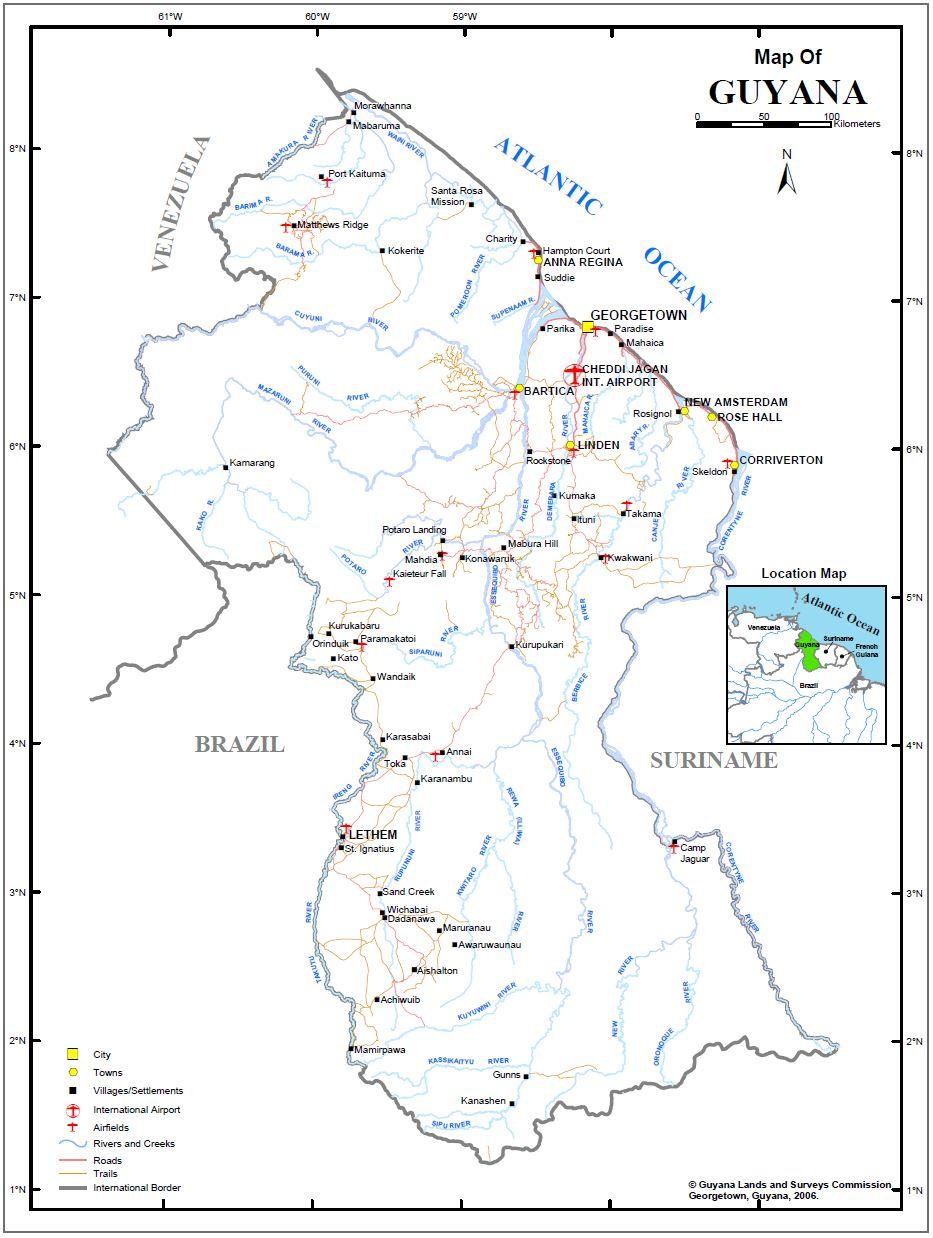 Maps – GLSC  Natural Regions Of Guyana Showing The Map on guyana map with regions, map showing capital of brazil, 4 major natural regions, map showing the great basin, map of the guyana showing administrative regions,
