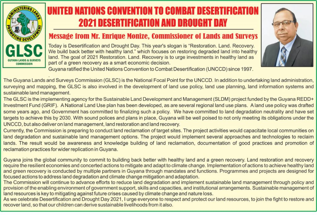 United Nations Convention To Combat Desertification ( 2021 Desertification And Drought Day)